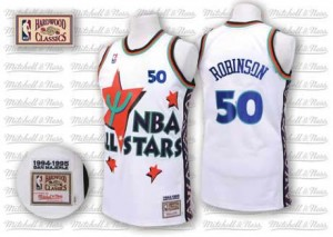San Antonio Spurs #50 Adidas Throwback 1995 All Star Blanc Authentic Maillot d'équipe de NBA pas cher en ligne - David Robinson pour Homme