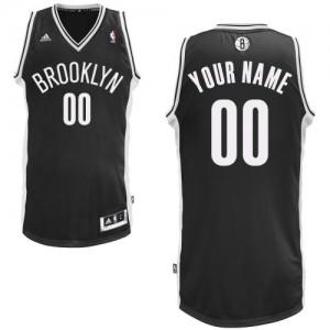 Maillot NBA Swingman Personnalisé Brooklyn Nets Road Noir - Enfants