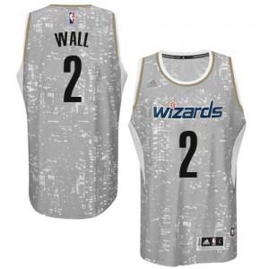 Washington Wizards #2 Adidas City Light Gris Authentic Maillot d'équipe de NBA la vente - John Wall pour Homme