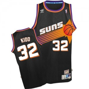 Maillot NBA Noir Jason Kidd #32 Phoenix Suns Throwback Authentic Homme Adidas