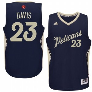 Maillot Adidas Bleu marin 2015-16 Christmas Day Swingman New Orleans Pelicans - Anthony Davis #23 - Homme