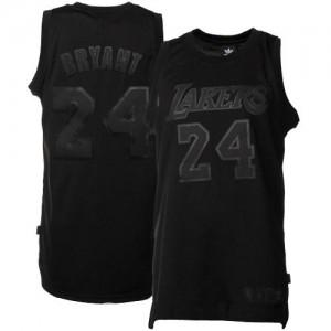 Maillot Adidas Noir / noir Authentic Los Angeles Lakers - Kobe Bryant #24 - Homme