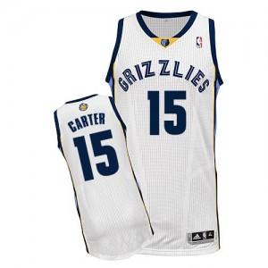 Maillot NBA Authentic Vince Carter #15 Memphis Grizzlies Home Blanc - Homme