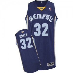 Memphis Grizzlies Jeff Green #32 Road Authentic Maillot d'équipe de NBA - Bleu marin pour Homme