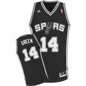 San Antonio Spurs #14 Adidas Road Noir Swingman Maillot d'équipe de NBA Promotions - Danny Green pour Homme