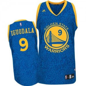 Golden State Warriors #9 Adidas Crazy Light Bleu Authentic Maillot d'équipe de NBA Le meilleur cadeau - Andre Iguodala pour Homme