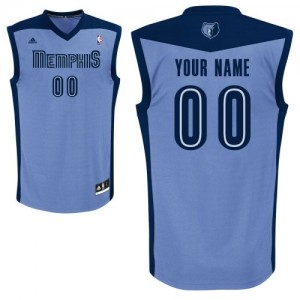 Maillot Memphis Grizzlies NBA Alternate Bleu clair - Personnalisé Authentic - Femme