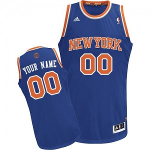 New York Knicks Swingman Personnalisé Road Maillot d'équipe de NBA - Bleu royal pour Enfants