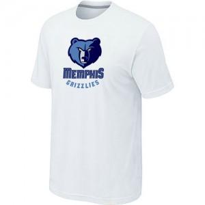Memphis Grizzlies Big & Tall T-Shirts d'équipe de NBA - Blanc pour Homme