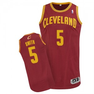 Maillot Authentic Cleveland Cavaliers NBA Road Vin Rouge - #5 J.R. Smith - Homme