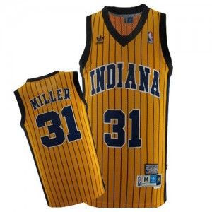 Indiana Pacers #31 Mitchell and Ness Throwback Or Swingman Maillot d'équipe de NBA pas cher - Reggie Miller pour Homme