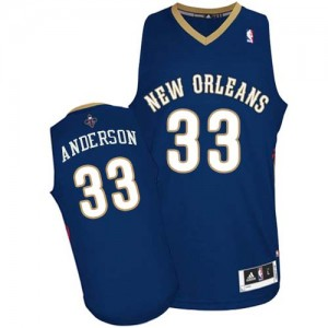 Maillot Adidas Bleu marin Road Authentic New Orleans Pelicans - Ryan Anderson #33 - Homme