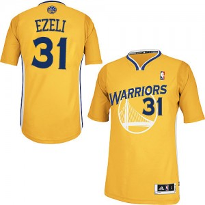 Maillot NBA Authentic Festus Ezeli #31 Golden State Warriors Alternate Or - Homme