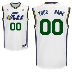 Utah Jazz Personnalisé Adidas Home Blanc Maillot d'équipe de NBA préférentiel - Swingman pour Enfants