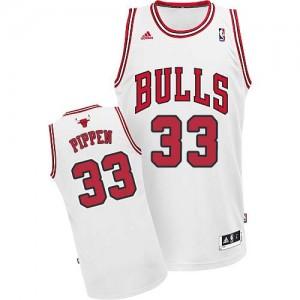 Maillot NBA Swingman Scottie Pippen #33 Chicago Bulls Home Blanc - Homme
