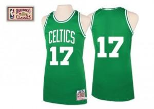 Maillot NBA Authentic John Havlicek #17 Boston Celtics Throwback Vert - Homme