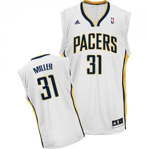 Indiana Pacers #31 Adidas Home Blanc Swingman Maillot d'équipe de NBA pas cher - Reggie Miller pour Homme