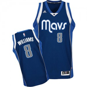 Dallas Mavericks Deron Williams #8 Alternate Swingman Maillot d'équipe de NBA - Bleu marin pour Homme