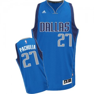 Dallas Mavericks Zaza Pachulia #27 Road Swingman Maillot d'équipe de NBA - Bleu royal pour Homme