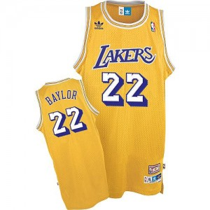 Los Angeles Lakers #22 Mitchell and Ness Throwback Or Authentic Maillot d'équipe de NBA en soldes - Elgin Baylor pour Homme