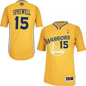 Golden State Warriors #15 Adidas Alternate Or Authentic Maillot d'équipe de NBA Peu co?teux - Latrell Sprewell pour Homme