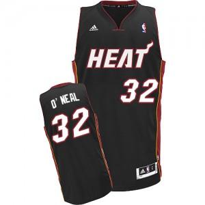 Miami Heat Shaquille O'Neal #32 Road Swingman Maillot d'équipe de NBA - Noir pour Homme