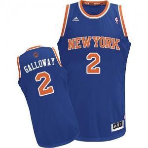 New York Knicks #2 Adidas Road Bleu royal Swingman Maillot d'équipe de NBA à vendre - Langston Galloway pour Homme