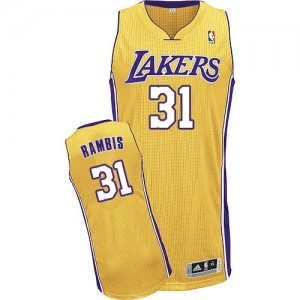 Maillot Authentic Los Angeles Lakers NBA Home Or - #31 Kurt Rambis - Homme