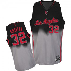 Maillot Authentic Los Angeles Clippers NBA Fadeaway Fashion Gris noir - #32 Blake Griffin - Homme