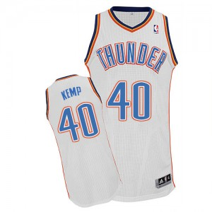 Oklahoma City Thunder Shawn Kemp #40 Home Authentic Maillot d'équipe de NBA - Blanc pour Homme