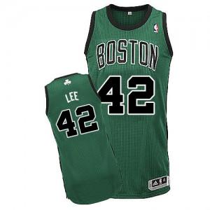 Boston Celtics David Lee #42 Alternate Authentic Maillot d'équipe de NBA - Vert (No. noir) pour Homme