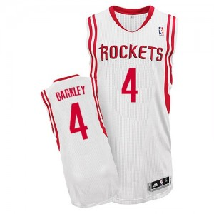Maillot Authentic Houston Rockets NBA Home Blanc - #4 Charles Barkley - Homme