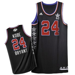 Maillot Adidas Noir 2015 All Star Authentic Los Angeles Lakers - Kobe Bryant #24 - Homme