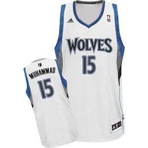 Maillot Swingman Minnesota Timberwolves NBA Home Blanc - #15 Shabazz Muhammad - Homme
