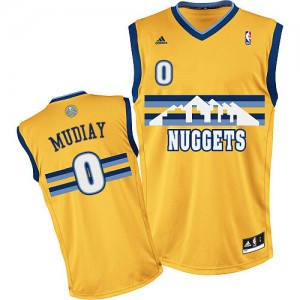 Maillot NBA Swingman Emmanuel Mudiay #0 Denver Nuggets Alternate Or - Homme