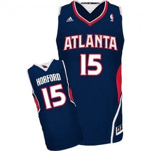Atlanta Hawks #15 Adidas Road Bleu marin Swingman Maillot d'équipe de NBA vente en ligne - Al Horford pour Homme