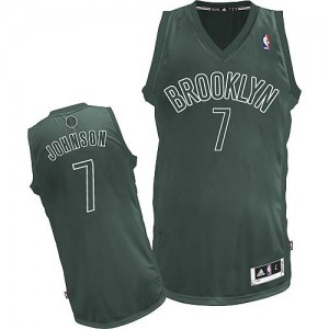 Maillot Authentic Brooklyn Nets NBA Big Color Fashion Gris - #7 Joe Johnson - Homme