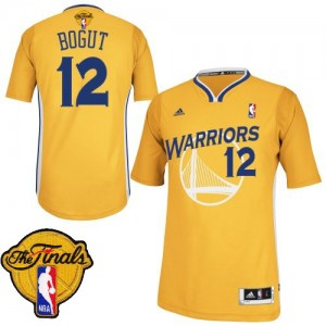 Maillot Adidas Or Alternate 2015 The Finals Patch Swingman Golden State Warriors - Andrew Bogut #12 - Homme