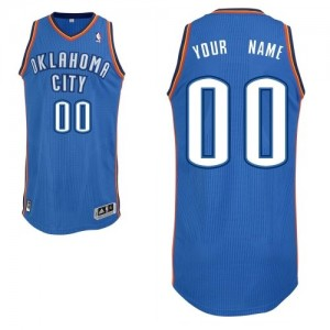 Maillot NBA Authentic Personnalisé Oklahoma City Thunder Road Bleu royal - Enfants