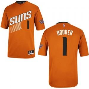 Maillot NBA Phoenix Suns #1 Devin Booker Orange Adidas Authentic Alternate - Homme