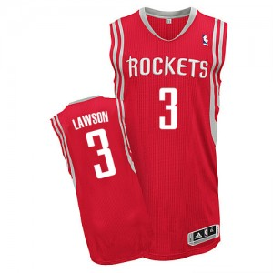 Maillot NBA Rouge Ty Lawson #3 Houston Rockets Road Authentic Homme Adidas