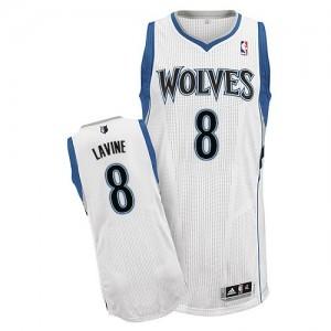 Maillot Authentic Minnesota Timberwolves NBA Home Blanc - #8 Zach LaVine - Homme