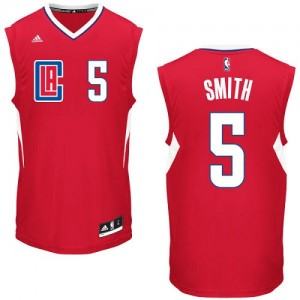 Maillot NBA Rouge Josh Smith #5 Los Angeles Clippers Road Authentic Homme Adidas