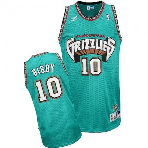 Maillot NBA Authentic Mike Bibby #10 Memphis Grizzlies Throwback Vert - Homme