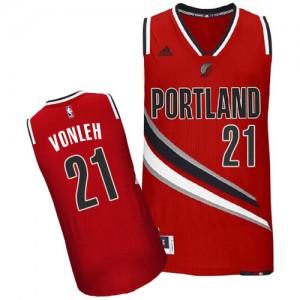 Portland Trail Blazers Noah Vonleh #21 Alternate Swingman Maillot d'équipe de NBA - Rouge pour Homme