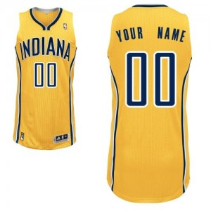 Maillot NBA Or Authentic Personnalisé Indiana Pacers Alternate Homme Adidas