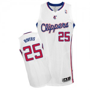 Maillot Authentic Los Angeles Clippers NBA Home Blanc - #25 Austin Rivers - Homme