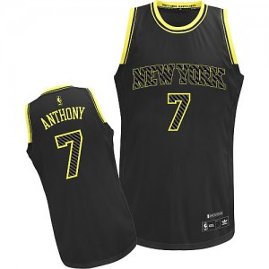 Maillot NBA Authentic Carmelo Anthony #7 New York Knicks Electricity Fashion Noir - Homme