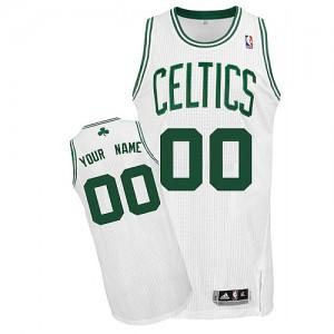 Boston Celtics Authentic Personnalisé Home Maillot d'équipe de NBA - Blanc pour Enfants