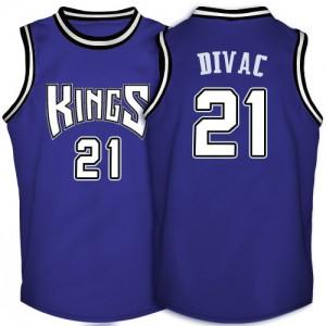 Maillot NBA Violet Vlade Divac #21 Sacramento Kings Throwback Swingman Homme Adidas